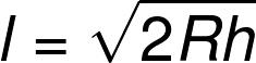 Решение №131 Расстояние от наблюдателя, находящегося на небольшой высоте h км над землёй, до наблюдаемой им линии горизонта вычисляется по формуле