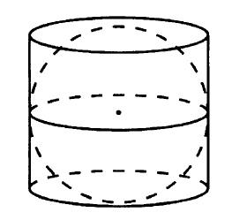 Решение №156 Шар вписан в цилиндр. Площадь поверхности шара равна 26. Найдите площадь полной поверхности цилиндра.