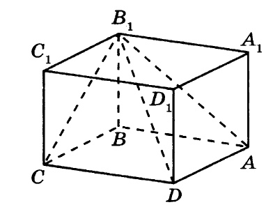 Решение №157 Найдите объём многогранника, вершинами которого являются вершины А, В, С, D, В1 прямоугольного параллелепипеда ABCDA1B1C1D1