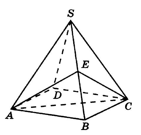 Решение №162 Объем правильной четырехугольной пирамиды SABCD равен 52.