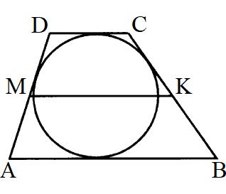 Решения №285 Около окружности описана трапеция, периметр которой равен 96. Найдите длину её средней линии.