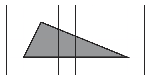 Решение №508 На клетчатой бумаге с размером 1х1 изображён треугольник.