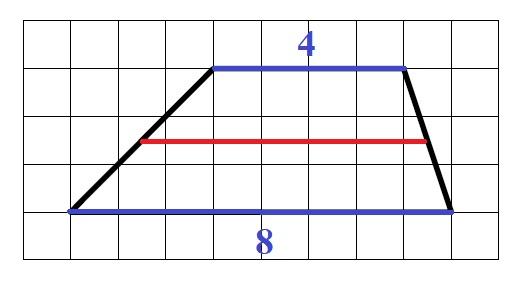 Решение №509 На клетчатой бумаге с размером клетки 1х1 изображена трапеция.