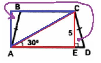 Решение №537 Найдите площадь S трапеции ABCD, изображённой на рисунке.
