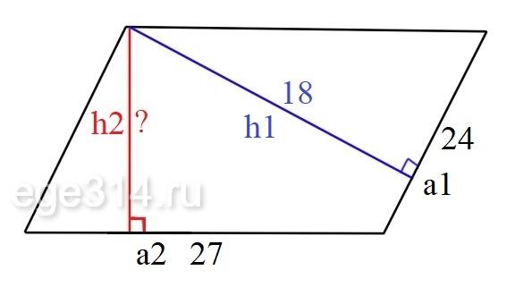 Решение №520 Стороны параллелограмма равны 24 и 27.