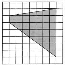 На клетчатой бумаге с размером клетки 1см × 1см изображена трапеция.