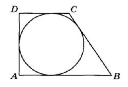 Периметр прямоугольной трапеции, описанной около окружности, равен 100, её большая боковая сторона равна 37.
