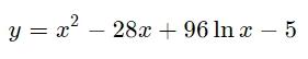 Найдите точку минимума функции.