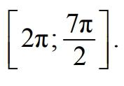 Укажите корни этого уравнения, принадлежащие отрезку [2pi;7pi/2]