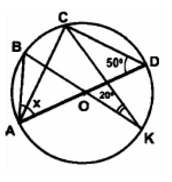 Найдите градусную меру угла BAD, изображенного на рисунке