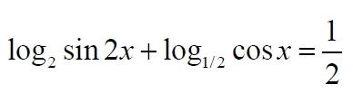 Решите уравнение log2sin2x+log1/2cosx=1/2