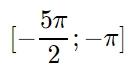 Укажите корни этого уравнения, принадлежащие отрезку [-5pi/2;-pi]
