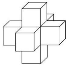 Для каждой грани куба с ребром 6 проделали сквозное квадратное отверстие