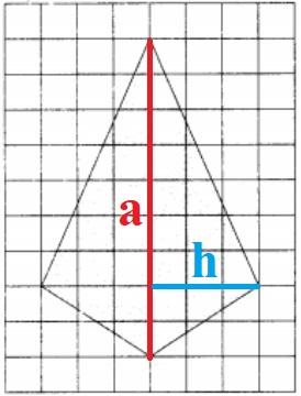 На клетчатой бумаге с размером клетки 1x1 изображён четырёхугольник.
