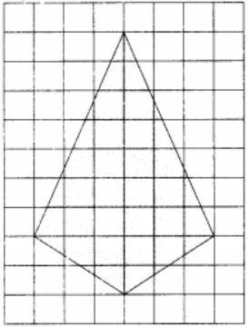 На клетчатой бумаге с размером клетки 1х1 изображён четырёхугольник.