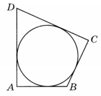 В четырёхугольник ABCD вписана окружность, AB=8, BC=5 и CD=27.