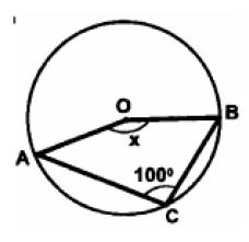 Найдите градусную меру угла АОВ, изображённого на рисунке