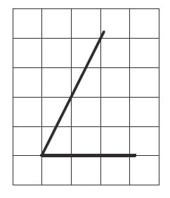 Найдите тангенс острого угла, изображённого на рисунке.