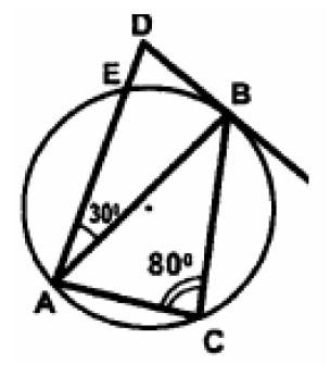 Угол DAB равен 30º, угол АВС равен 80º.