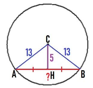 Решение №646 Найдите длину хорды окружности радиусом 13 ...
