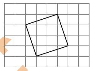 Решение №679 На клетчатой бумаге с размером клетки 1×1 изображён квадрат.