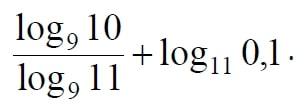 Найдите значение выражения log9 10/log9 11 +log11 0,1