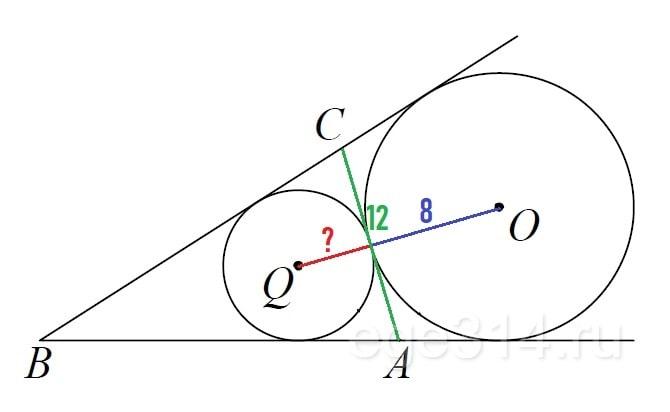 Основание AC равнобедренного треугольника ABC равно 12.