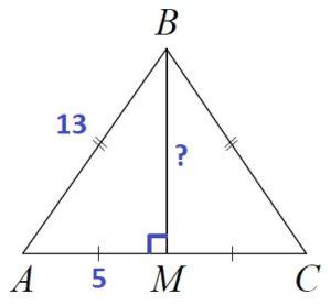 Решение №760 В треугольнике ABC известно, что AB = BC =13, AC =10.