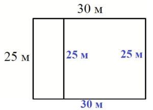 Найдите суммарную длину забора в метрах.