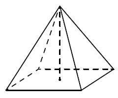 Найдите объём правильной четырёхугольной пирамиды