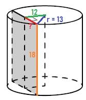 Решение №761 Радиус основания цилиндра равен 13, а его образующая равна 18.