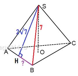 Решение №787 Апофема правильной треугольной пирамиды равна 2√7 ...
