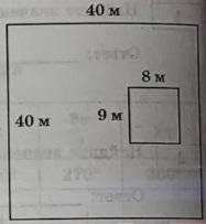 Дачный участок имеет форму квадрата, стороны которого равны 40 м.