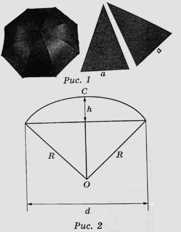 Два друга Петя и Вася задумались о том, как рассчитать площадь поверхности зонта.