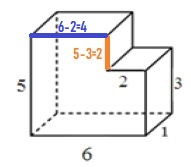 Решение №845 Найдите площадь полной поверхности многогранника, изображенного на рисунке ...