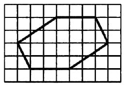 Найдите площадь шестиугольника, изображенного на клетчатой бумаге