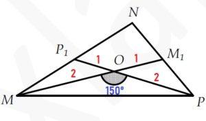 Найдите радиус окружности, описанной около треугольника МОР.
