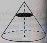 Объём конуса равен 256