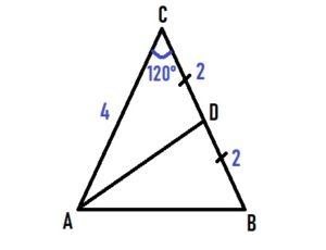 Угол при вершине равнобедренного треугольника равен 120°.