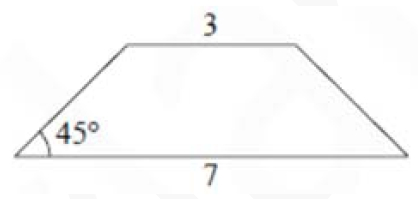 В равнобедренной трапеции основания равны 3 и 7