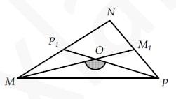 В треугольнике MNP известно, что МM1 и РР1 – медианы