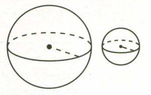 Даны два шара с радиусами 6 и 2.