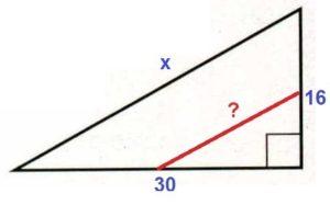 Решение №1019 Катеты прямоугольного треугольника равны 16 и 30.