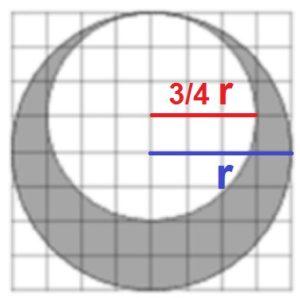 Решение №1029 На клетчатой бумаге нарисовано два круга.