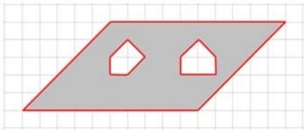 На клетчатой бумаге с клетками размером 1 см х 1 см изображен четырехугольник.