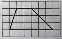 На клетчатой бумаге с размером клетки 1×1 изображена трапеция.