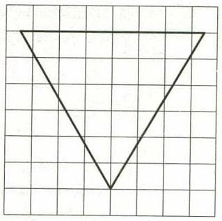 Решение №934 На клетчатой бумаге с размером клетки 1х1 изображён равносторонний треугольник.