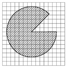 Найдите (в см2) площадь S закрашенной фигуры, изображенной на клетчатой бумаге с размером клетки 1см х 1см (см. рис.).
