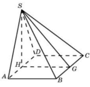 Основанием пирамиды служит прямоугольник, одна боковая грань перпендикулярна