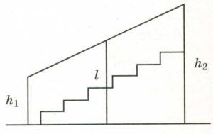 Перила лестницы дачного дома для надёжности укреплены посередине вертикальным столбом.